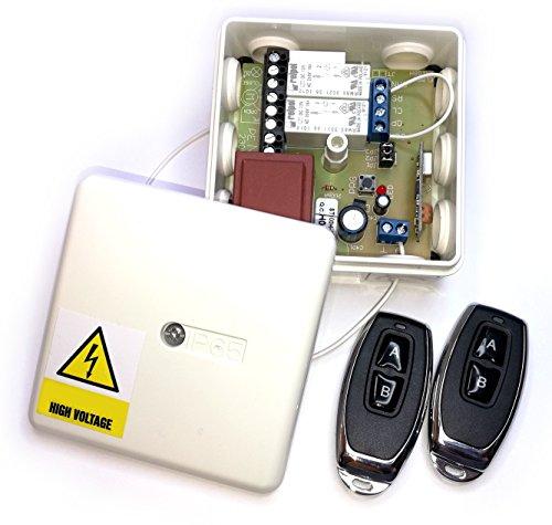 Set 2x Handsender 2 Kanal Empfänger ST100HU für Torantrieb/Garagenantrieb/Tor/Garage/Torsteuerung/Garagensteuerung/Jalousie/Jalousiesteuerung/Funksteuerung/Funk