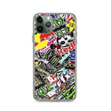 Phone Case Sticker Logo Collage Compatible with iPhone 6 6s 7 8 X Xs Xr 11 12 Pro Max Mini Se 2020 Shock Anti