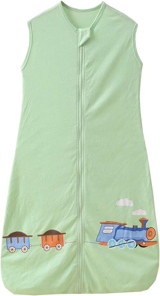 Schlafsack Baby Sommer dünner mädchen Junge Frühling neugeboren Baumwolle Schlafanzug - 0.5 tog. (110CM (18-36 Monate), Zug Grün)