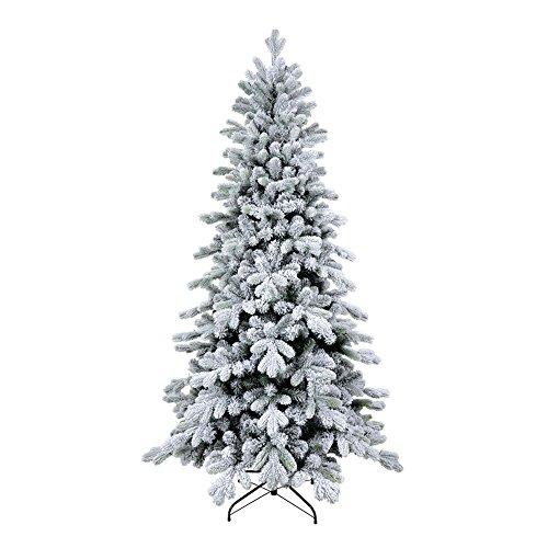 XONE Albero di Natale Cervino Slim 240 cm - Innevato e folto | Albero Bianco Artificiale in PVC e PE Effetto Real Touch