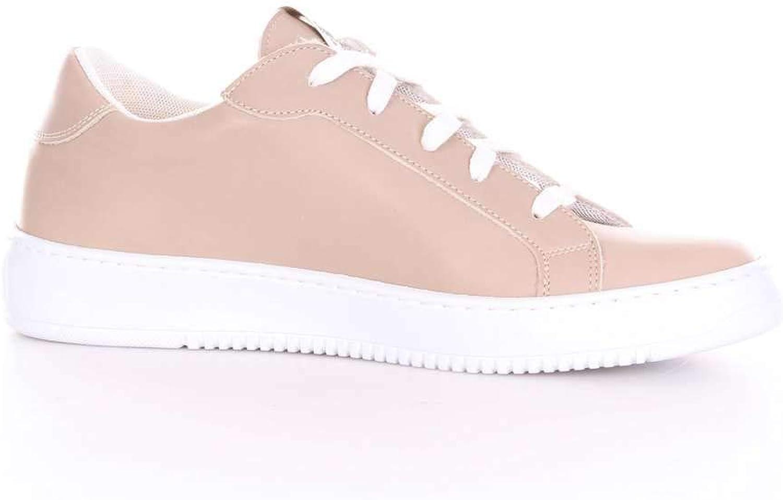THOMS NICOLL Men's 338VITELLOSABBIA Pink Leather Sneakers