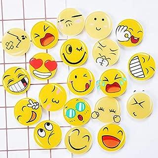 Magnet Glass - 8pcs Cute Emoji Fridge Magnet Glass Dome Round Face Expressions Refrigerator Sticker Cabochon Notes - Phone Frame Shirt Emoji Cleaning Glass Markers Holder Aquarium Fridge Case Cle