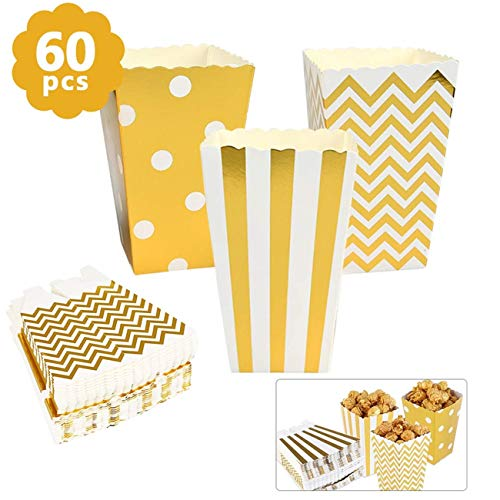 BUYGOO 60PCS Popcorntüten Papier Popcorn Boxen - Klein Popcorn Behälter Party Candy Container behandeln Kartons für Sweet, Candy, Snack, Food Dekorationen, Party Supplies Boxen