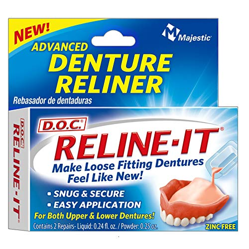 D.O.C. Reline-It Advanced Denture Reliner Kit ( Pack of 2)