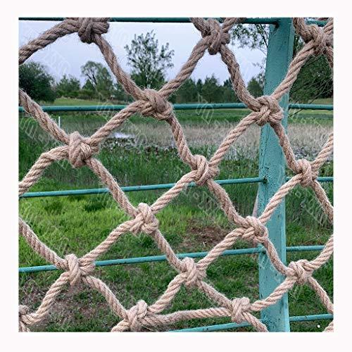 Natürliches Manila-Seil,Ziernetz aus Jute Hanfschnur Gartenzaun-Schutz-Schaukelnetz für Kinder Weihnachts-Seil 12mm(15/32in) Terrassenbaum-Handlauf für Kinder Ladungssicherheit Verschleißbeständig