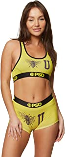 PSD Underwear Women's Sports Bra - Sommer Ray Collection   Wide Elastic Band, Stretch Fabric, Athletic Fit  