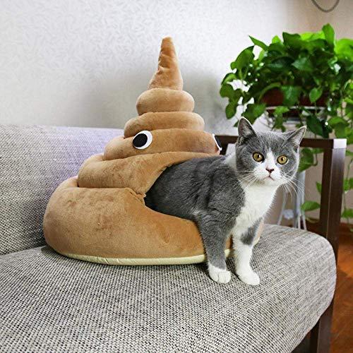 N / A Cat Betten Cat Caves & Häuser Hundehütte Katze-Haus Lustige Poop-Katzen-Bett und 3 Größen @ Burgund L,M,Burgund
