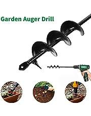 Broca de taladro de tierra para plantar, excavadora de agujeros para postes de jardín con accionamiento hexagonal antideslizante, herramienta de plantadora rápida en espiral para plantar (4*45CM)