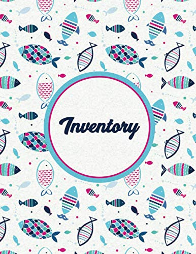 Inventory: Simple Inventory Log Book for Business or Personal | Fish Pattern...