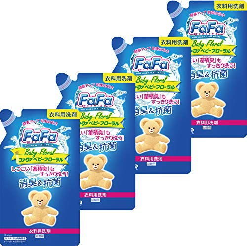 Furfa Liquid Detergent Baby Floral Refill (810ml) 4 pieces