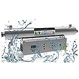 Esterilizador UV Industrial Desinfección de Agua Ultravioleta Sistema de Tratamiento de Agua de Piscina de Acero Inoxidable Desinfección Ultravioleta para Agua Tasa de esterilización 99,99%