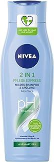 NIVEA 2-in-1 Express Milde shampoo & conditioner (250 ml), intensieve verzorgingsshampoo met aloë vera, haarshampoo voor v...