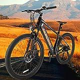 Bicicleta eléctrica Mountain Bike de 27,5 Pulgadas Batería Extraíble de 36V 10Ah E-Bike MTB Pedal Assist Compañero Fiable para el día a día