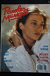 Paroles & Musique 1987 03 n° 68 JANE BIRKIN * MADER AUBRET CHAMFORT BEAUCARNE