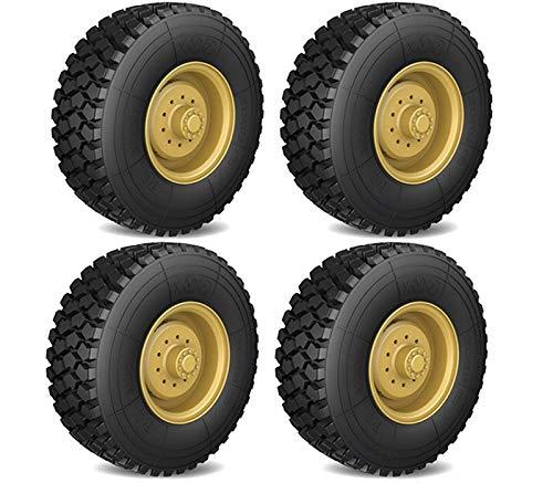 Integy RC Model Hop-ups C28959YELLOW Tire & Wheels (2) for HG-P802 8X8 RC Military Truck
