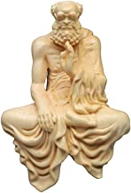 ZGPTX Huang Yang Wood Carving Damozu Master Buddha Statue Home Zen Meditation Sitting Damo Pieces Gift Solid Wood Crafts