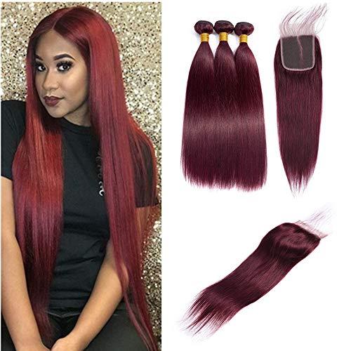 Burgundy brazilian hair _image0