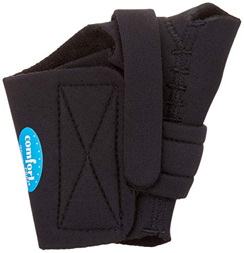 Comfort Cool Thumb CMC Restriction Splint, Provides Direct Support for The Thumb CMC Joint While Allowing Full Finger Function, Left Hand, Medium Plus