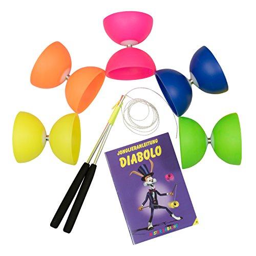 Diabolo Set para niños Principiantes con Comet Diabolo y Henry's Spare Cord I Beginner Set - Made in Italy (Neon Green)