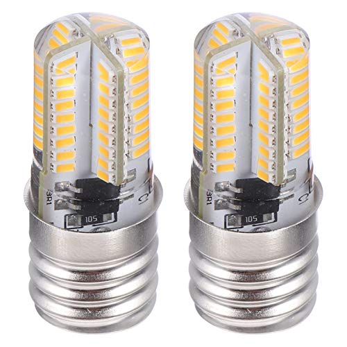 OSALADI 2Pcs Ampoule Micro-Ondes E17 LED Ampoule de Four 72- Ampoule LED Dimmable (Blanc Chaud)