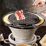 TANKKWEQ Parrilla portátil para barbacoa, estufa de arcilla, parrilla de carbón de leña para el hogar antiguo, herramientas de cocina antiadherentes para el hogar