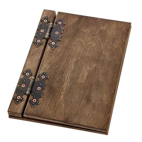 Elegante menù in legno, inserti dal formato 10 DIN A5, avvitabile, carta da vino, per bevande, gastronomia, menù