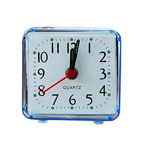 Serenable Moda Mini Relógio De Quartzo Relógio Despertador - Azul
