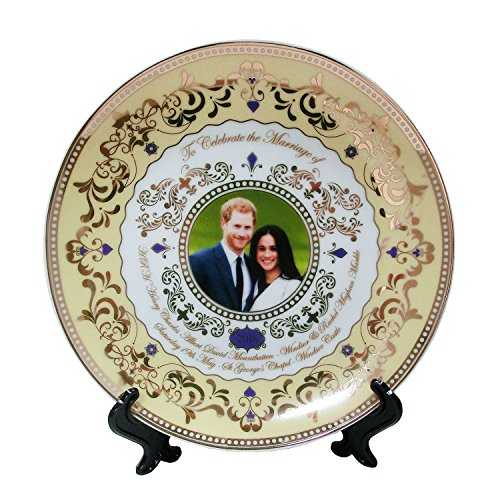 H.R.H. Prince Harry & Meghan Markle Royal Wedding 19th May 2018 Commemorative Fine China 8' / 20cm Plate