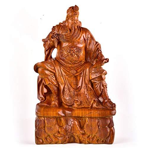 zlw-shop Estatua de Buda Feng Shui Grande Guan Yu/Guan Gong Estatua de Dios de la Riqueza Cuan Yu Gong/Kwan Kung Estatua de Buda Meditación (Color : H20cm)