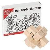Bartl 102573 Mini-Holz-Puzzle Der Teufelsknoten aus 6 kleinen Holzteilen -