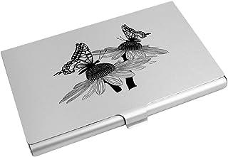 Azeeda 'Butterflies On Daisies' Business Card Holder / Credit Card Wallet (CH00008989)
