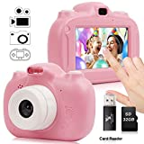 Kids Camera, 30MP Digital Camera for Kids Gifts, 3 Inch HD Touch Screen 1080P Digital Video Camera for Kids 3-10 Year Old Boys Girls with 32GB SD Card, SD Card Reader 2020 Upgraded (Pink)