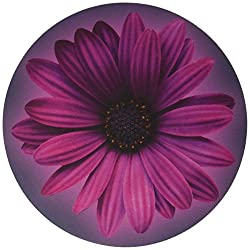 professional Wrist puts one smooth mouse pad, round flower (13121)