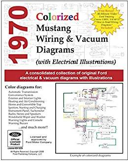 1970 Colorized Mustang Wiring And Vacuum Diagrams Motor Company Ford Ebook Amazon Com