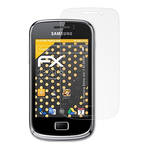 atFoliX Película Protectora Compatible con Samsung Galaxy Mini 2 GT-S6500 Lámina Protectora de Pantalla, antirreflejos y amortiguadores FX Protector Película (3X)