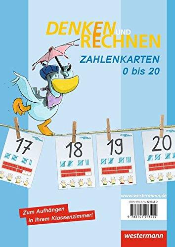 Denken und Rechnen Zusatzmaterialien - Ausgabe 2011: Zahlenkarten (0 - 20)