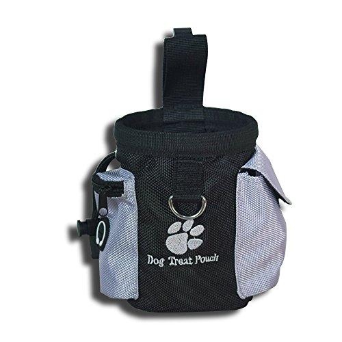 eBasics Puppy Dog Treat Pouch for Training Dog Reward Pouch Snack Bag Bait Bag Dog Treat Carrier HolderWaist Clip Drawstring Closure, Fit Small Medium Hands, No Strap