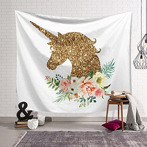 PEKSLA Wall hanging tapestry Mandala Garland Unicorn 3 Decor Psychedelic Tapestries Indian Bed Sheets Large Hangings