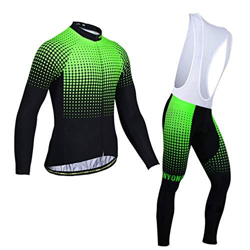 FMBK666 Cycling Clothing Mens Jerseys Suits Long Sleeve 3D Gel Pad Bib shorts Quich-dry MTB Cycling Wear Thermal Fleece MTB Bike Cycle Jacket