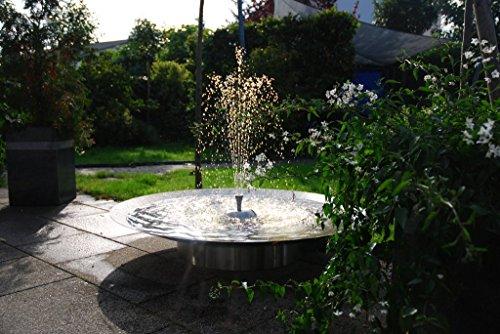Gartenbrunnen Seliger® Edelstahlbrunnen Wasserschale mit Sokel Springbrunnen