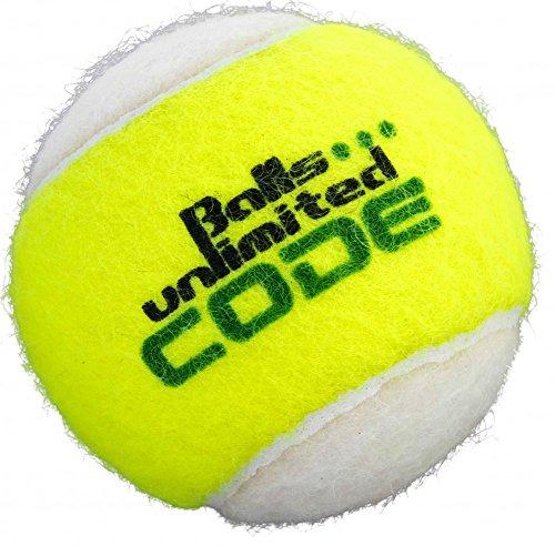 Balls ... unlimited Code Green Tennisball, Drucklose Trainingsbälle - 60er Beutel - gelb/weiß