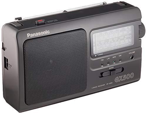 Panasonic RF-3500E9-K - Radio Portátil (FM/AM/LW/SW, 1000 mW, Largo Alcance, Sintonizador Analógico, Fácil y Simple de Usar) Color Negro