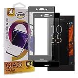 Guran - Protector de pantalla de cristal templado para Sony Xperia XZ/XZS (cobertura completa de protección ultrafina HD, dureza 9H), color negro