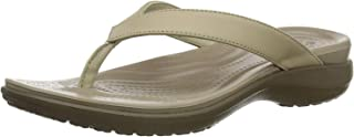 Crocs Women's Capri V Flip Flop | Casual Sandal With Extra Soft Footbed and Soft Leather Straps | Lightweight Beach Shoe