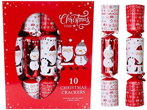 Toyland Confezione da 10 Pupazzi di Neve e Pupazzi di Natale di Babbo Natale