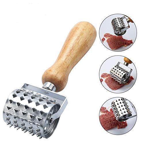 Handheld Stainless Steel Rolling Meat Tenderizer Kitchen Tenderizer Tool for Tendering Steak Beef Pork Chicken