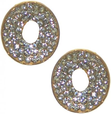 MARTINE gold plated crystal clip on earrings