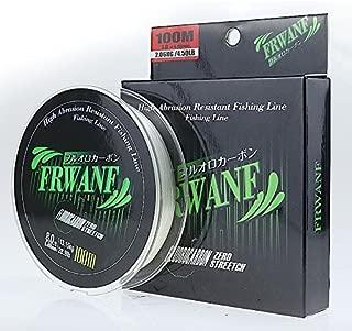Frwanf Premium Premium 100% Pure Fluorocarbon Fishing Line - 100M/109 Yards