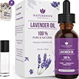 Naturenics Premium Lavender Essential Oil - 100% Undiluted Pure Lavender Oil Therapeutic Grade-...