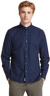 قميص سادة باكمام طويلة وتصميم انيق ايلا ريفر للرجال، قميص مصنوع من قماش اوكسفورد من تيمبرلاند